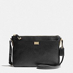COACH F49992 Madison Swingpack In Leather  LIGHT GOLD/BLACK