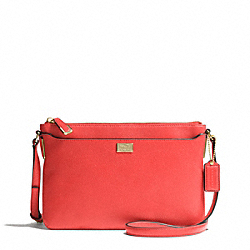 MADISON LEATHER SWINGPACK - f49992 - LIGHT GOLD/LOVE RED