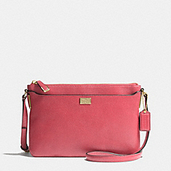 MADISON SWINGPACK IN LEATHER - f49992 -  LIGHT GOLD/LOGANBERRY