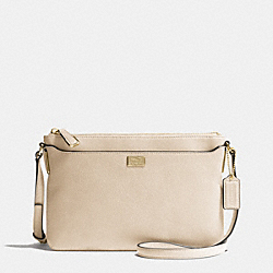 MADISON LEATHER SWINGPACK - f49992 - LIGHT GOLD/MILK