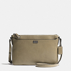 MADISON SWINGPACK IN LEATHER - f49992 -  BLACK ANTIQUE NICKEL/OLIVE GREY