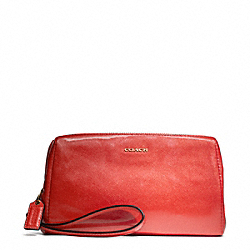 COACH F49998 Madison Patent Leather Zip Top Large Wristlet