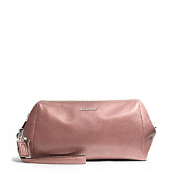 COACH F49999 Madison Zip Top Large Wristlet In Metallic Leather