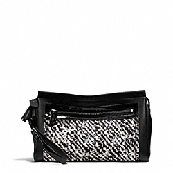 COACH F50031 - LARGE CLUTCH IN DONEGAL PRINT FABRIC ONE-COLOR