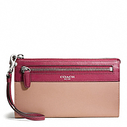 COACH F50039 Zippy Wallet In Two Tone Leather