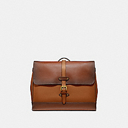 HUDSON MESSENGER IN COLORBLOCK - F50055 - DARK BROWN MULTI/ANTIQUE BRASS