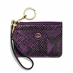 COACH F50067 Signature Stripe Embossed Exotic Id Skinny