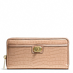 COACH F50073 Taylor Exotic Leather Accordion Zip