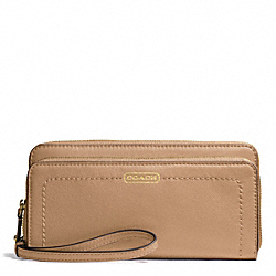 COACH F50075 Campbell Leather Double Accordion Zip