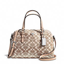 COACH F50093 Peyton Dream C Bennett Mini Satchel SILVER/LIGHT KHAKI/TAN