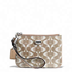 COACH F50108 Peyton Dream C Small Wristlet SILVER/LIGHT KHAKI/TAN
