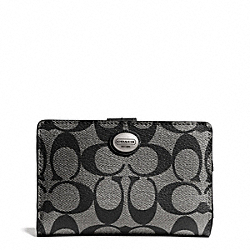 COACH F50114 Peyton Signature Medium Wallet