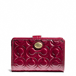 COACH F50122 Peyton Op Art Embossed Patent Medium Wallet