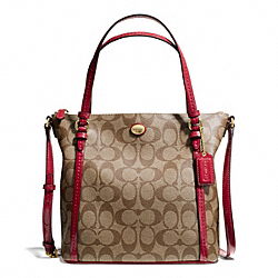 COACH F50124 - PEYTON SIGNATURE MINI TOTE CROSSBODY ONE-COLOR