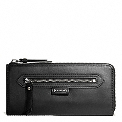 COACH F50133 Daisy Leather Slim Zip