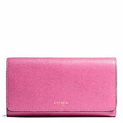 COACH F50155 Saffiano Leather Checkbook Wallet