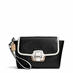 COACH F50157 Taylor Spectator Leather Flap Clutch