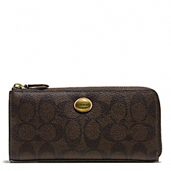 COACH F50174 Peyton Signature Slim Zip