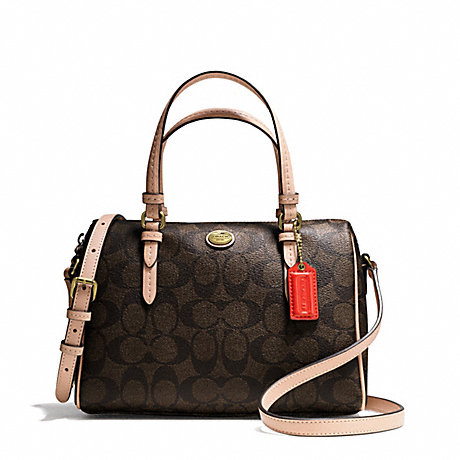 COACH f50178 PEYTON SIGNATURE BENNETT MINI SATCHEL