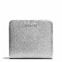 COACH F50199 Glitter Small Wallet SILVER/SILVER