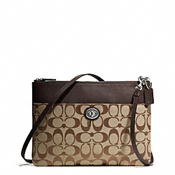 COACH F50213 - TURNLOCK CROSSBODY IN SIGNATURE FABRIC ONE-COLOR