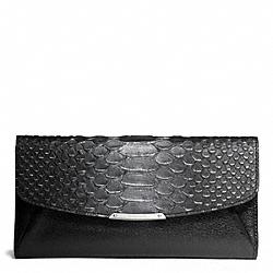 COACH F50225 Madison Glitter Python Slim Envelope Wallet