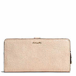 COACH F50226 Madison Glitter Lizard Skinny Wallet