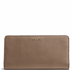 COACH F50233 Madison  Skinny Wallet In Leather LIGHT GOLD/SILT
