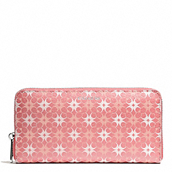 COACH F50273 Waverly Signature Print Accordion Zip Wallet