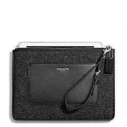 COACH F50309 Felt Flat Zip Case
