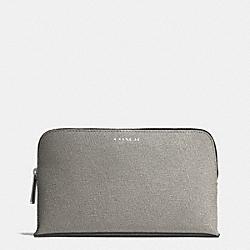 COACH F50371 Medium Cosmetic Case In Saffiano Leather  SILVER/CEMENT