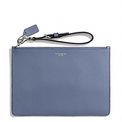COACH F50372 Saffiano Leather Flat Zip Case