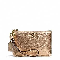 COACH F50374 Glitter Small Wristlet BRASS/GOLD