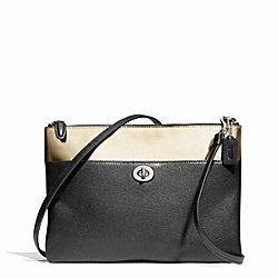 COACH F50380 Mirror Metallic Turnlock Crossbody SILVER/GOLD/BLACK