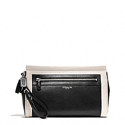COACH F50388 - LEGACY TWO TONE LEATHER LARGE CLUTCH ONE-COLOR