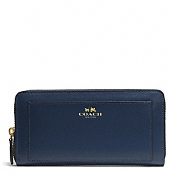 COACH DARCY LEATHER ACCORDION ZIP WALLET - INK BLUE - F50427