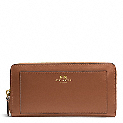 COACH F50427 Darcy Leather Accordion Zip Wallet BRASS/SADDLE