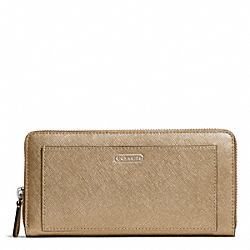 COACH F50427 Darcy Leather Accordion Zip
