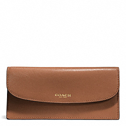 COACH F50428 Darcy Leather Soft Wallet BRASS/SADDLE