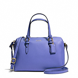 COACH F50430 Peyton Bennett Mini Satchel BRASS/PORCELAIN BLUE
