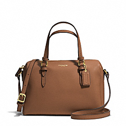COACH F50430 Peyton Bennett Mini Satchel BRASS/SADDLE