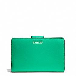 COACH F50431 Darcy Medium Wallet In Leather BRASS/JADE
