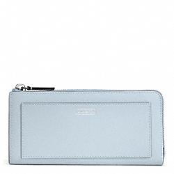 COACH F50439 Darcy Leather Slim Zip SILVER/SKY