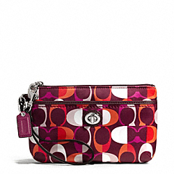 COACH F50441 Park Split Signature C Print Medium Wristlet