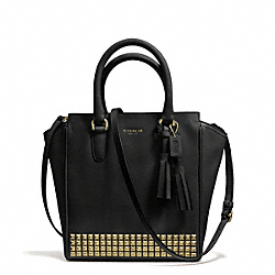 COACH F50470 Studded Leather Mini Tanner Crossbody AB/BLACK