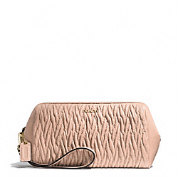 COACH F50472 Madison Gathered Twist Large Wristlet LIGHT GOLD/PEACH ROSE