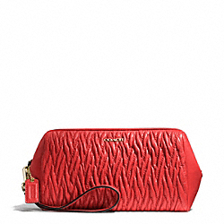 COACH F50472 Madison Gathered Twist Large Wristlet LIGHT GOLD/LOVE RED