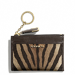 COACH F50474 Madison Zebra Print Fabric Mini Skinny