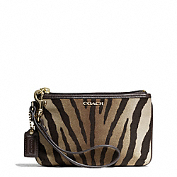COACH MADISON ZEBRA PRINT SMALL WRISTLET - LIGHT GOLD/BROWN MULTI - F50489