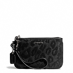 COACH F50492 Madison Chenille Ocelot Small Wristlet